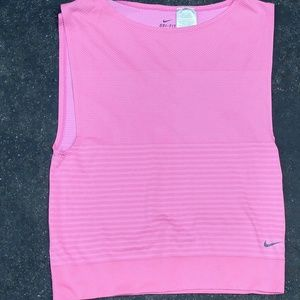 Nike Tops - nike hot pink cropped open armhole workout tank